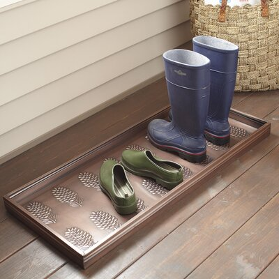 Pinecone Galvanized Steel Boot Tray