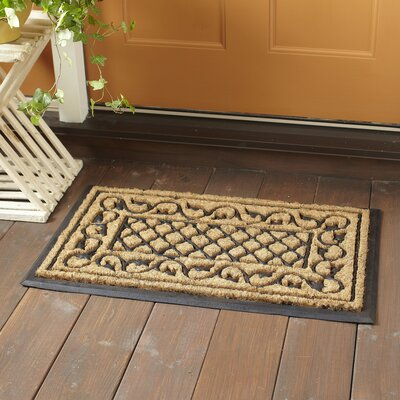 Leaf and Lattice Welcome Doormat