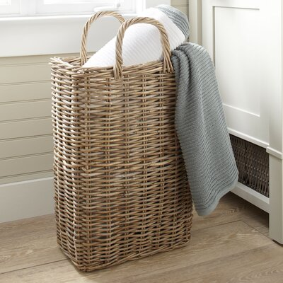Tall Wicker Storage Basket