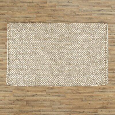 Garrett Hand-Woven Natural/cream Area Area Rug Rug Size: 5 x 8