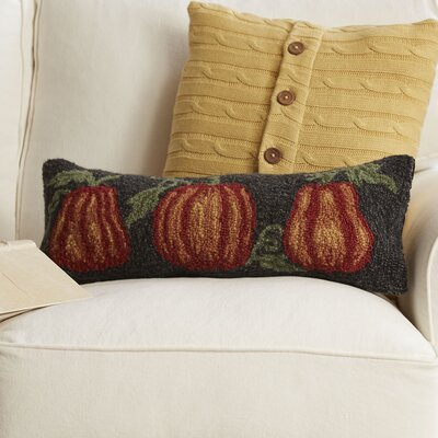 Pumpkin Trio Hooked Pillow
