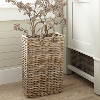 Tall Wicker Storage Basket Size: Small