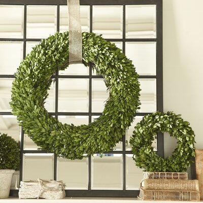 Birch Lane Preserved Boxwood Wreath