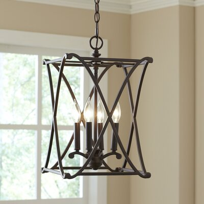 Georgetown Pendant Size: 4-light, Finish: Burnished Bronze