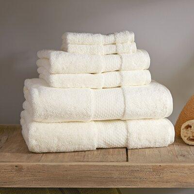 Marjorie 6-Piece Towel Set Color: Ivory