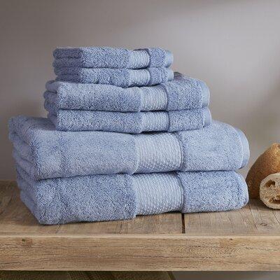Marjorie 6-Piece Towel Set Color: Moonstone