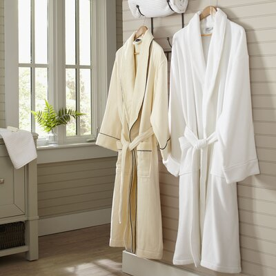 Goode Waffle Weave Robe Color: White