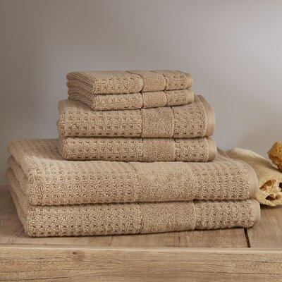 Hallie 6 Piece Towel Set Color: Almond