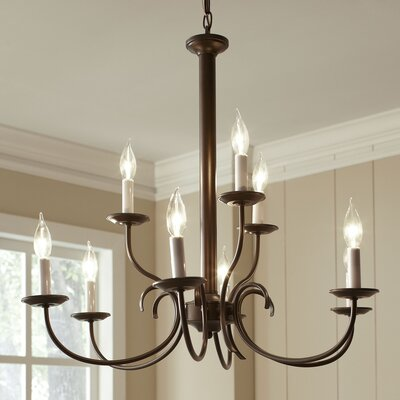 Robbins 9-Light Candle-Style Chandelier Finish: Brushed Nickel