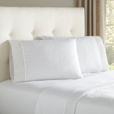 Anna Eyelet Sheet Set Size: Queen