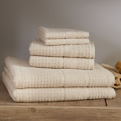 Hallie 6 Piece Towel Set Color: Latte