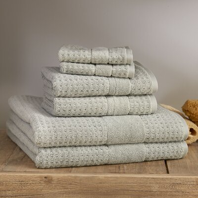 Hallie 6 Piece Towel Set Color: Misty Sage
