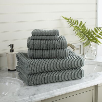 Lynn 6-Piece Towel Set Color: Brick