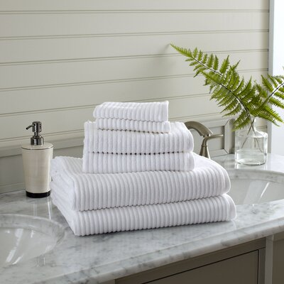 Lynn 6-Piece Towel Set Color: White