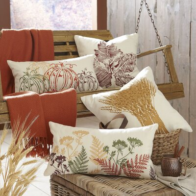 Wheat Bundle Embroidered Pillow Cover