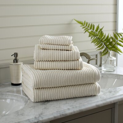 Lynn 6-Piece Towel Set Color: Natural