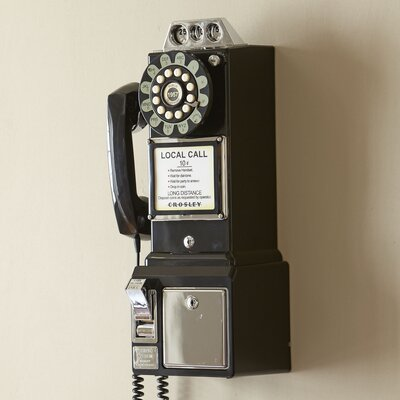 Vintage Pay Phone Finish: Black