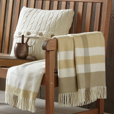 Ayla Striped Throw Color: Beige
