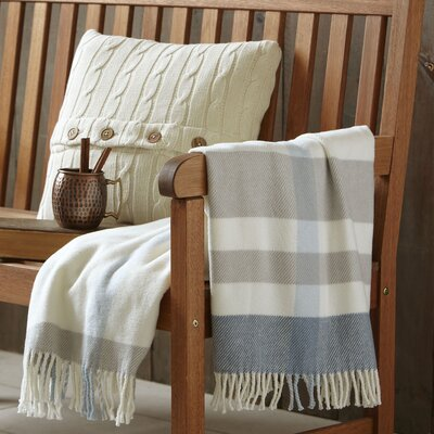 Ayla Striped Throw Color: Blue