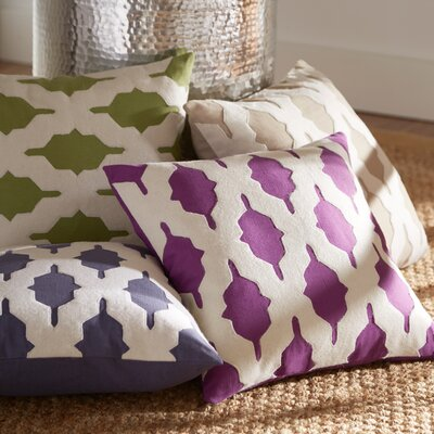 Tripoli Pillow Cover Color: Violet, Size: 22 H x 22 W x 1 D