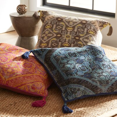 Mumbai Wool Pillow Cover Color: Magenta