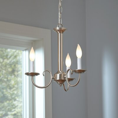 Thatcher 3-Light Candle-Style Chandelier Finish: Brushed Nickel