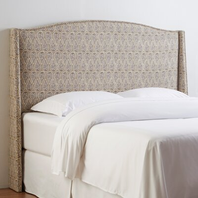 Stillman Upholstered Headboard Size: California King, Upholstery: Goddard Indigo Stripe