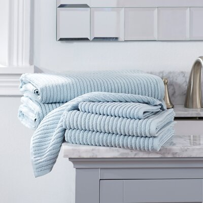 Lynn 6-Piece Towel Set Color: Spa Blue
