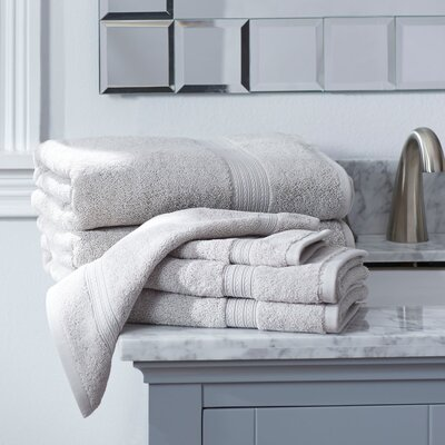 Nelle 6-Piece Towel Set Color: Dolphin Grey