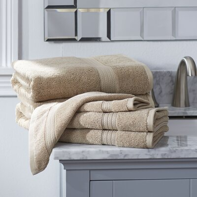 Nelle 6-Piece Towel Set Color: Linen