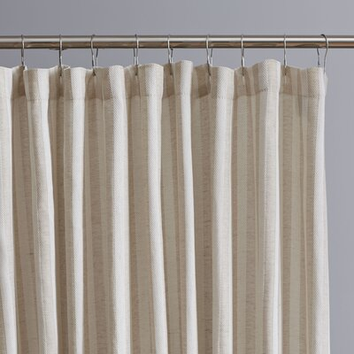 Levitt Vertical Stripe Shower Curtain