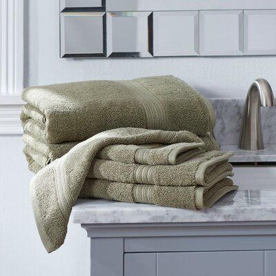 Nelle 6-Piece Towel Set Color: Celery