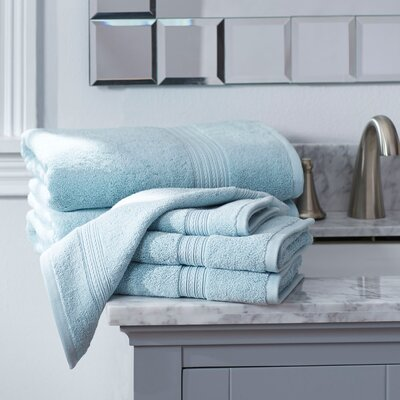 Nelle 6-Piece Towel Set Color: Robins Egg Blue