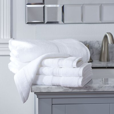 Nelle 6-Piece Towel Set Color: White