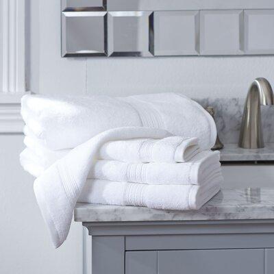 Nelle 6-Piece Towel Set Color: White
