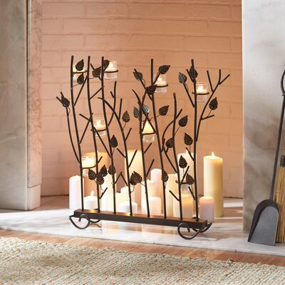 Votive Candle Fireplace Screen