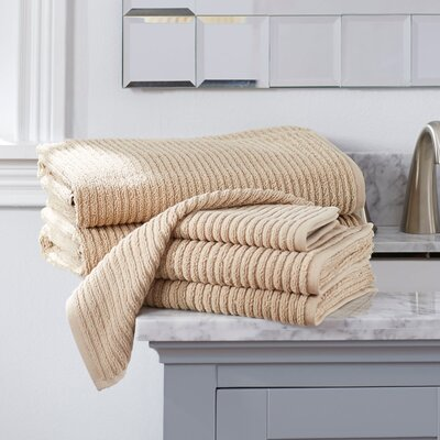 Lynn 6-Piece Towel Set Color: Latte