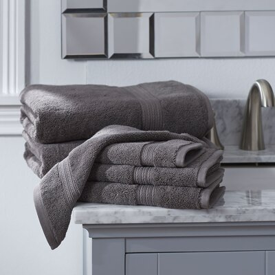Nelle 6-Piece Towel Set Color: Charcoal