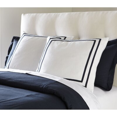 Lola Bedding Euro Sham Color: Navy
