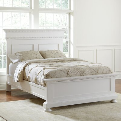 Dobson Panel Bed Size: King, Color: White