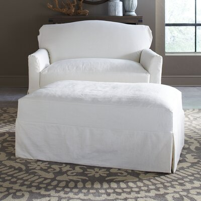Fairchild Slipcovered Ottoman Upholstery: Bayou Natural