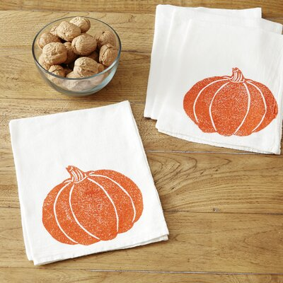 Pumpkin Napkins Color: Orange