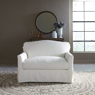 Fairchild Slipcovered Chair and a Half Upholstery: Denton Beige