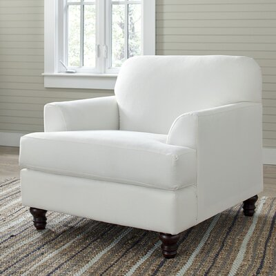 Marsden Arm Chair Upholstery: Classic Bleach White