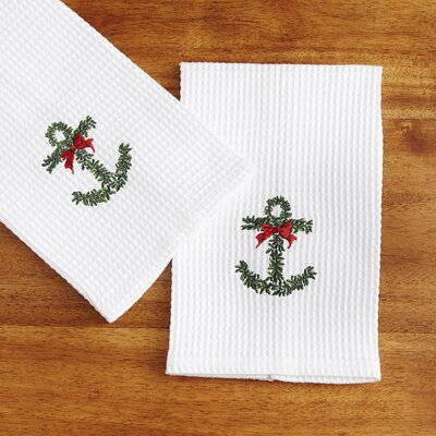 Evergreen Anchor Kitchen Towels
