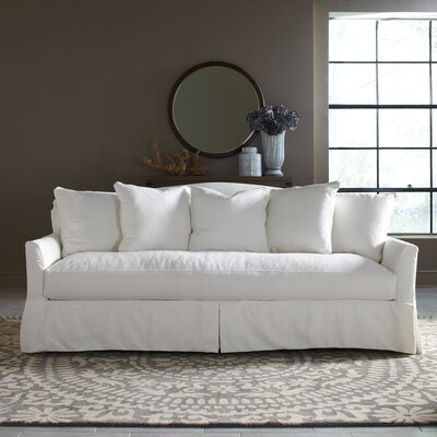 Fairchild Slipcovered Sofa Upholstery: Microsuede Cappucino