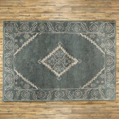 Desi Slate & Ivory Rug Rug Size: 33 x 53