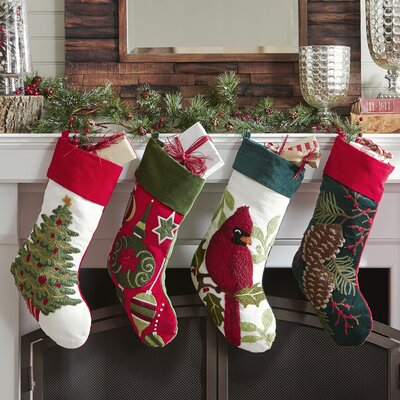 Tufted Stocking Collection-Cardinal Tufted Stocking