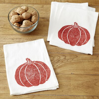 Pumpkin Napkins Color: Maroon