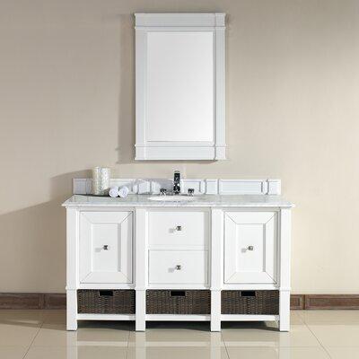 Bancroft 60 Single Vanity Base Finish: White